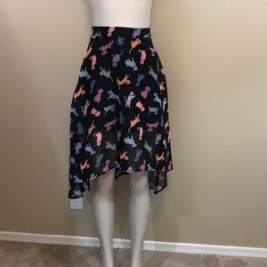 D-signed dog and cat skirt girls Large